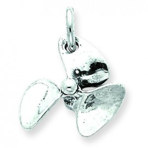 AntiqueBoat Propeller Charm in Sterling Silver