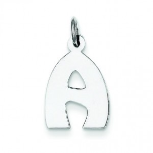 Bubble Block Initial A Charm in Sterling Silver
