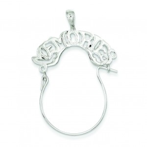 Memories Charm Holder in Sterling Silver