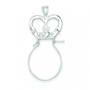 Claddagh Charm Holder in Sterling Silver