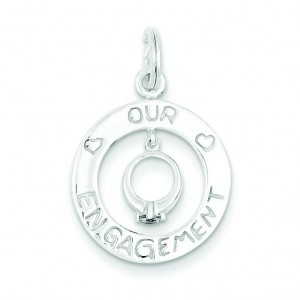 Our Engagement Charm in Sterling Silver