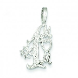 Number One Mom Charm in Sterling Silver
