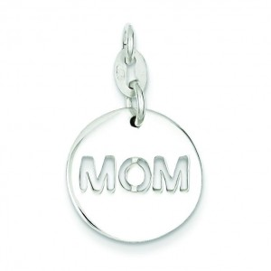 Circle Mom Charm in Sterling Silver