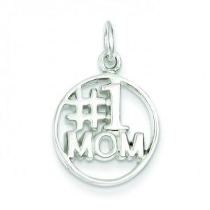Mom Pendant in Sterling Silver