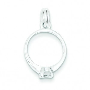 CZ Ring Charm in Sterling Silver