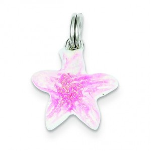 Sparkle Starfish Charm in Sterling Silver