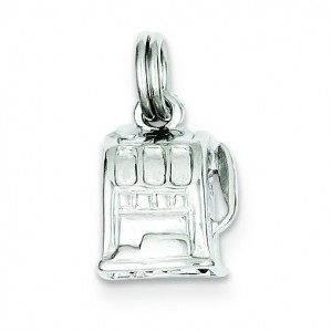 Slot Machine Charm in Sterling Silver