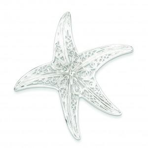 Fancy Star Pendant in Sterling Silver