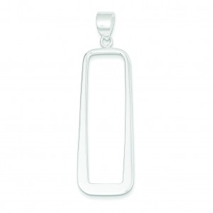 Rectangle Pendant in Sterling Silver