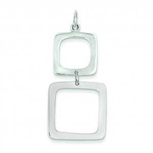 Graduated Squares Pendant in Sterling Silver