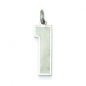 Large Number 1 in Sterling Silver