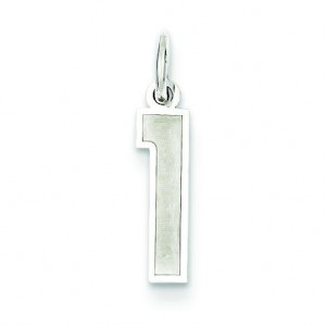 Small Number 1 in Sterling Silver