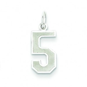 Small Number 5 in Sterling Silver