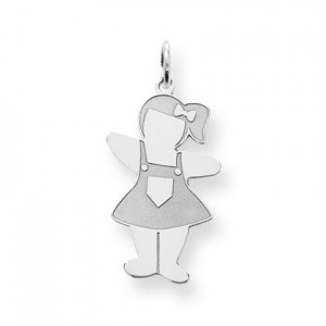 Pocket Sized Cuddle Charm in Sterling Silver