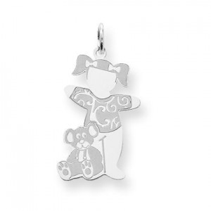 Warm Fuzzies Cuddle Charm in Sterling Silver