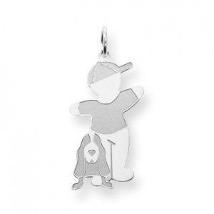 Bow Wow Cuddle Charm in Sterling Silver