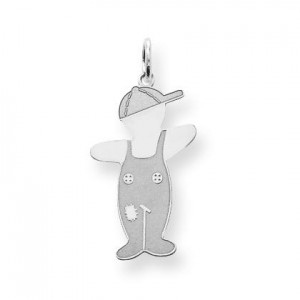Spunky Cuddle Charm in Sterling Silver