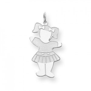 Back To School Cuddle Charm in Sterling Silver