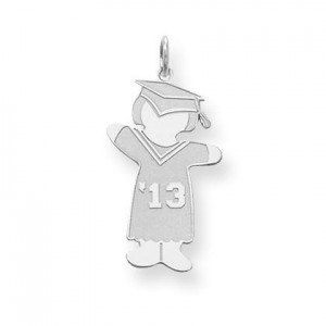Class Of Girl Cuddle Charm in Sterling Silver