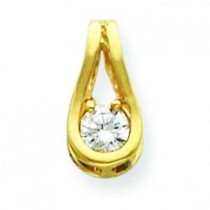 Diamond Pendant in 14k Yellow Gold