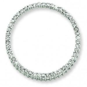 Diamond Circle Pendant in 14k White Gold