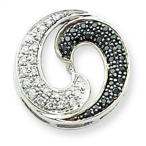 White Diamond Pendant in 14k White Gold
