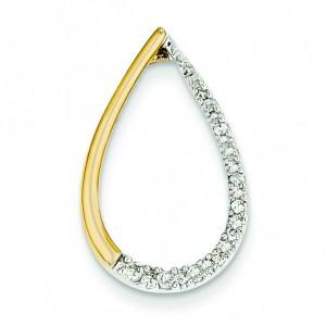 Diamond Teardrop Pendant in 14k Yellow Gold