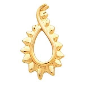 Tear Drop Pendant in 14k Yellow Gold