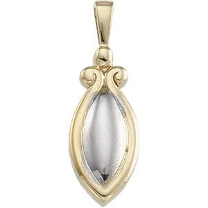 Fashion Pendant in 14k Two-tone Gold