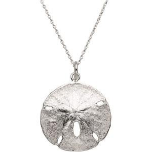 Sand Dollar Pendant in Sterling Silver