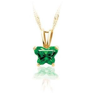 Birthstone Pendant Or Necklace Box in 10k Yellow Gold