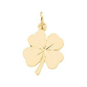 Four Leaf Clover Charm in 14k Yellow Gold