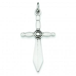 Sword Cross Pendant in Sterling Silver