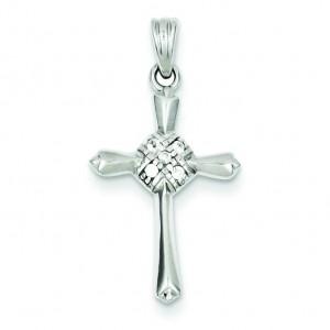 Celtic CZ Cross in Sterling Silver