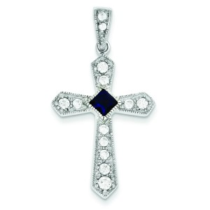 Passion CZ Cross in Sterling Silver