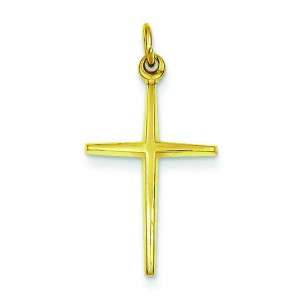 Passion Cross Charm in Sterling Silver