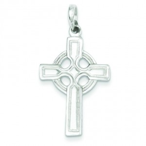 Polished Cross Pendant in Sterling Silver