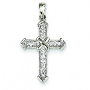 0.19 Ct. Tw. Diamond Passion Cross in 14k White Gold
