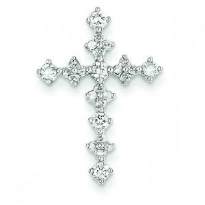 0.46 Ct. Tw. Diamond Passion Cross in 14k White Gold