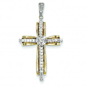 0.33 Ct. Tw. Diamond Passion Cross in 14k Two-tone Gold