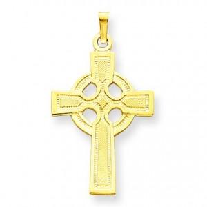 Celtic Cross Charm in 14k Yellow Gold
