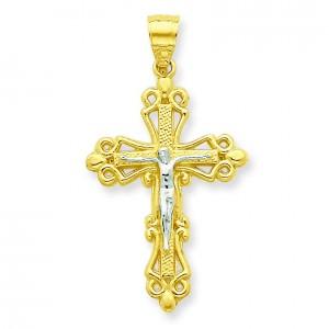 Crucifix Pendant in 10k Yellow Gold