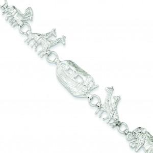 Noah's Ark Bracelet in Sterling Silver