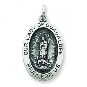 Our Lady of Guadalpue Medal in Sterling Silver