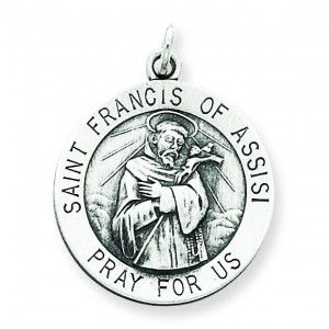 St Francis of Assisi Medal in Sterling Silver