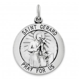 Saint Gerard Medal in Sterling Silver