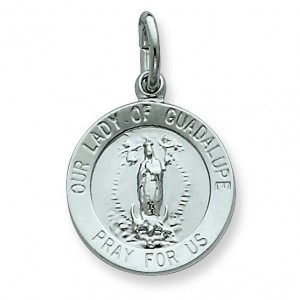 Our Lady of Guadalupe Medal in Sterling Silver