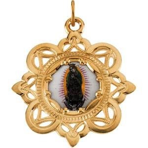 Guadalupe Pendant in 10k Yellow Gold
