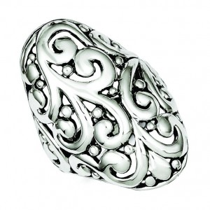 Antiqued Filigree Ring