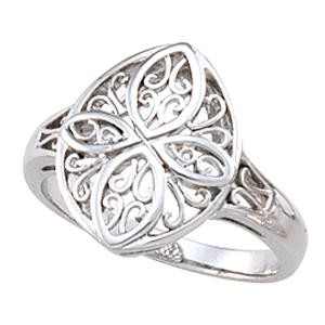 Filigree Vintage Ring in 14k Yellow Gold